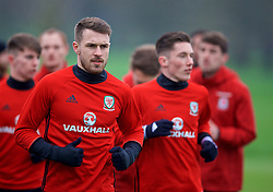 CARDIFF, WALES - Thursday, March 23, 2017: Wales' Aaron Ramsey during a training session at the Vale Resort ahead of the 2018 FIFA World Cup Qualifying Group D match against Republic of Ireland. (Pic by David Rawcliffe/Propaganda)