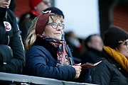 Crawley fans during the EFL Sky Bet League 2 match between Salford City and Crawley Town at the Peninsula Stadium, Salford, United Kingdom on 8 February 2020.
