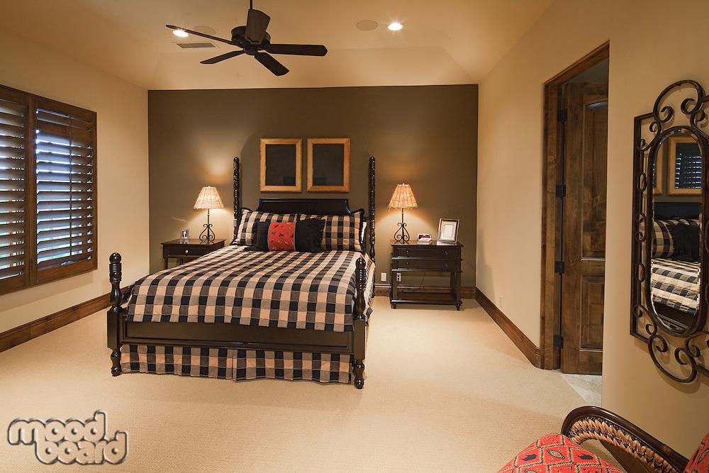 Small bedroom interior in luxury house