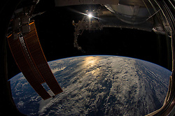 EARTH Aboard the International Space Station -- 31 Jan 2016 -- This amazing view of the Earth was captured by an astronaut on the International Space Station. EXPA Pictures © 2016, PhotoCredit: EXPA/ Photoshot/ Atlas Photo Archive/NASA<br />