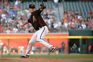 PHOENIX, AZ - APRIL 08:  Zack Greinke #21 of the Arizona Diamondbacks delivers a pitch in the first inning against the Cleveland Indians at Chase Field on April 8, 2017 in Phoenix, Arizona.  (Photo by Jennifer Stewart/Getty Images)
