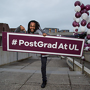 09.03.2017<br /> Pictured at the University of Limerick Post Grad Open Evening in the North Campus Pavilion was Michael 'Ras Mikey' Courtney, Irish World Academy. Picture: Alan Place
