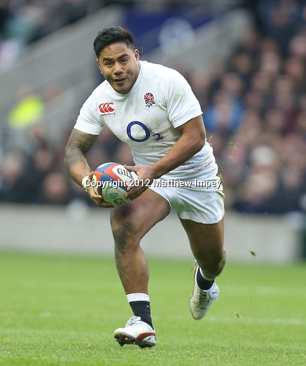 Ma'a Nonu of England. England v New Zealand, QBE Autumn International, Twickenham, Rugby Union, 01/12/2012 <br /> Photo: Matthew Impey/Photosport.co.nz