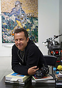 Artist Vik Muniz at his studio in Brooklyn, New York