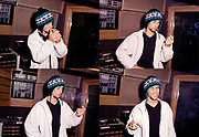 Jamiroquai Smoking in Studio , London, 1990s.