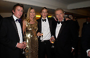 Miles Frost, Lady Carina Frost, George Frost and Sir David Frost. Annual  Award dinner given by the Media Society in honour of Sir David Frost. Savoy. 9 March 2005. ONE TIME USE ONLY - DO NOT ARCHIVE  © Copyright Photograph by Dafydd Jones 66 Stockwell Park Rd. London SW9 0DA Tel 020 7733 0108 www.dafjones.com