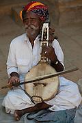 Blind Musician - Jaisalmer Rajasthan India 2011