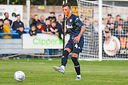 Leeds United midfielder Ben White (4) during the Pre-Season Friendly match between Guiseley  and Leeds United at Nethermoor Park, Guiseley, United Kingdom on 11 July 2019.