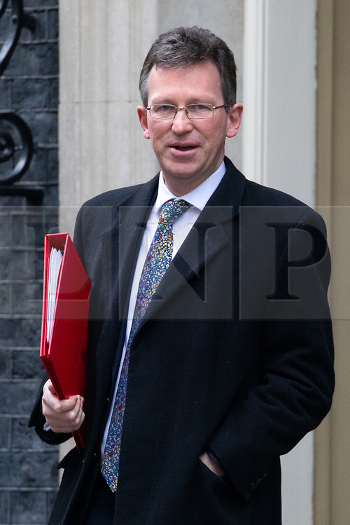 © Licensed to London News Pictures. 29/01/2019. London, UK. Secretary of State for Digital, Culture, Media and Sport Jeremy Wright QC leaves 10 Downing Street after attending a Cabinet meeting this morning. Photo credit : Tom Nicholson/LNP