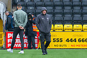 Neil Lennon, manager of Celtic FC on the pitch before the Ladbrokes Scottish Premiership match between Livingston FC and Celtic FC at The Tony Macaroni Arena, Livingston, Scotland on 6 October 2019.