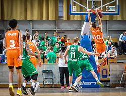 during the friendly match between KK Cedevita Olimpija Ljubljana and Ratiopharm Ulm on 11.9.2019 in Hala Tivoli, Ljubljana, Slovenia. Photo by Urban Meglič / Sportida