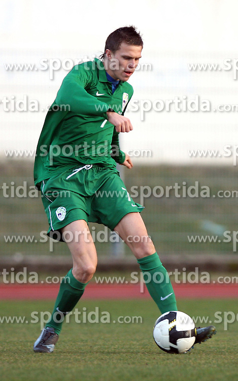 Josip Ilicic (7)  of Slovenia during Friendly match between U-21 National teams of Slovenia and Romania, on February 11, 2009, in Nova Gorica, Slovenia. (Photo by Vid Ponikvar / Sportida)