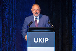© Licensed to London News Pictures . 29/09/2017 . Torquay , UK . William Dartmouth ( William Legge, 10th Earl of Dartmouth ) South West MEP , speaks . UKIP is due to announce the winner of a leadership election which has the potential to split the party . Photo credit: Joel Goodman/LNP