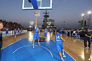 DESCRIZIONE : Taranto Basket On Board sulla portaerei Cavour  Nazionale Italia Under 18 Maschile Svezia <br /> GIOCATORE : team<br /> CATEGORIA : pre game riscaldamento<br /> SQUADRA : Nazionale Italia Under 18 <br /> EVENTO :  Basket On Board sulla portaerei Cavour<br /> GARA : Nazionale Italia Under 18 Maschile Svezia <br /> DATA : 12/07/2012 <br />  SPORT : Pallacanestro<br />  AUTORE : Agenzia Ciamillo-Castoria/GiulioCiamillo<br />  Galleria : FIP Nazionali 2012<br />  Fotonotizia : Taranto Basket On Board sulla portaerei Cavour  Nazionale Italia Under 18 Maschile Svezia <br />  Predefinita :