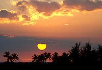 Magical sunset on the big island, Hawaii, USA.