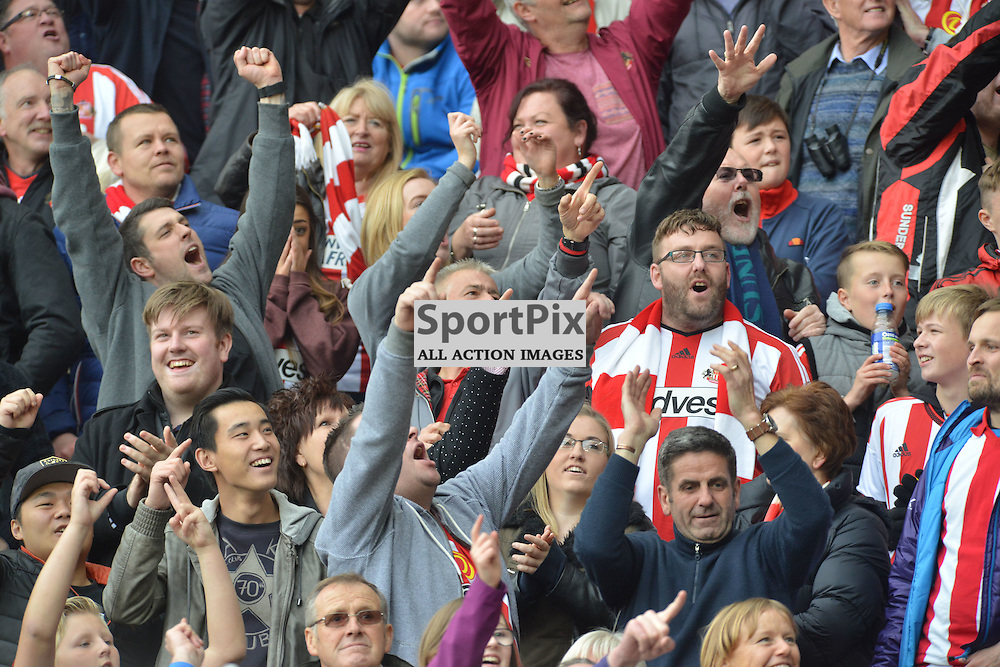 Who are ya sing Sunderland fans as their team win the Wear-Tyne derby against Newcastle.....(c) BILLY WHITE | SportPix.org.uk