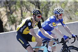 January 18, 2018 - Glenelg, AUSTRALIA - Belgian Maarten Wynants of Team LottoNL-Jumbo pictured in action during stage 3 of the Tour Down Under cycling race, 120,5km from Glenelg to Victor Harbor, Thursday 18 January 2018 in Australia. The stage is shortened because of the extreme temperatures that are expected in Western Australia on Thursday. This years edition of the race is taking place from January 16th to January 21st...BELGA PHOTO YUZURU SUNADA. (Credit Image: © Yuzuru Sunada/Belga via ZUMA Press)