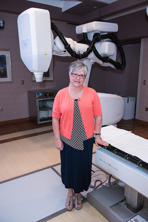 Cyberknife patient Debra Rooke, photographed Thursday, May 21, 2015 at Baptist Health in Lexington, Ky. (Photo by Brian Bohannon/Videobred for Baptist Health)