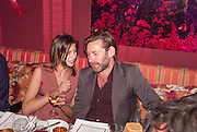 WHITNEY HINTZ; MAT COLLISHAW, Dinner to celebrate the opening of Pace London at  members club 6 Burlington Gdns. The dinner followed the Private View of the exhibition Rothko/Sugimoto: Dark Paintings and Seascapes.