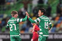Junya Tanaka / Ryan Gauld - 18.01.2015 - Sporting / Rio Ave FC - Liga Sagres -<br /> Photo : Carlos Rodrigues / Icon Sport