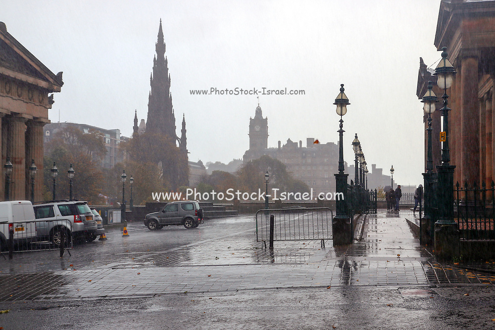 a rainy day in Edinburgh, Scotland
