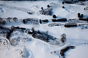 Nederland, Noord-Holland, Hilversum, 07-01-2010; abstract winterlandschap golfbaan; abstract winter landscape with snow, golf link.luchtfoto (toeslag), aerial photo (additional fee required).foto/photo Siebe Swart