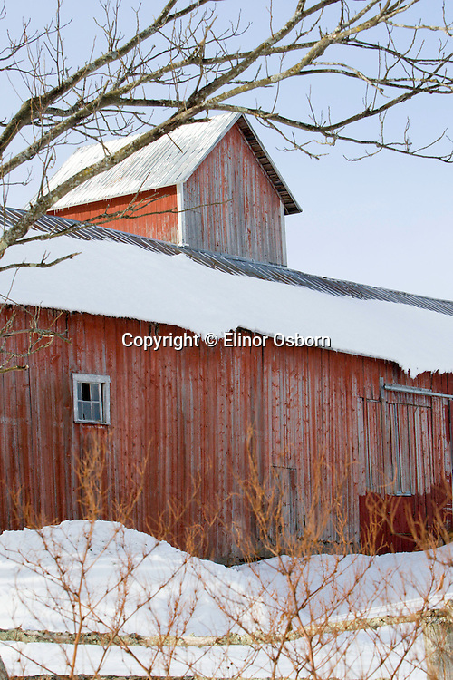 Barn with Square Silo