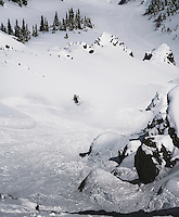 Day 5 - Chris Davenport drops into a delicious line, San Juan Mountains, Colorado.