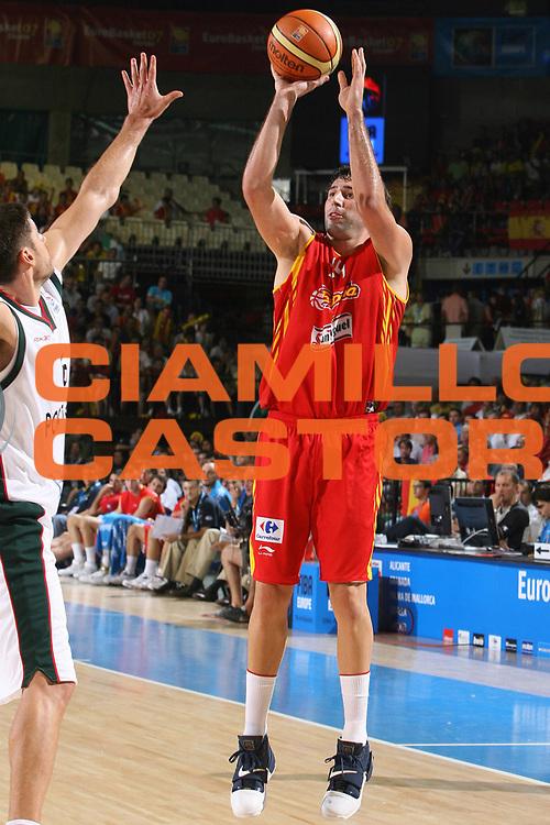 DESCRIZIONE : Siviglia Sevilla Spagna Spain Eurobasket Men 2007 Portogallo Spagna Portugal Spain <br /> GIOCATORE : Alex Mumbru <br /> SQUADRA : Spagna Spain <br /> EVENTO : Eurobasket Men 2007 Campionati Europei Uomini 2007 <br /> GARA : Portogallo Spagna Portugal Spain <br /> DATA : 03/09/2007 <br /> CATEGORIA : Tiro <br /> SPORT : Pallacanestro <br /> AUTORE : Ciamillo&amp;Castoria/E.Castoria <br /> Galleria : Eurobasket Men 2007 <br /> Fotonotizia : Sevilla Spagna Spain Eurobasket Men 2007 Portogallo Spagna Portugal Spain <br /> Predefinita :