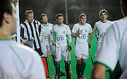 Canterbury's half time team talk against Surbiton in the NOW: Pension Men's Hockey League Premier Division, Polo Farm, Canterbury, Kent, 22nd November 2014.