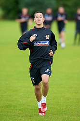 WREXHAM, WALES - Monday, August 18, 2008: Wales' Lloyd James training at Colliers Park ahead of their UEFA European U21 Championship Group 10 Qualifying match against Romania. (Photo by David Rawcliffe/Propaganda)