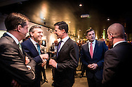 5-3-2015 - AMSTERDAM  AMSTERDAM - Partijleiders (VLNR) Alexander Pechtold (D66), Sybrand Buma (CDA), Mark Rutte (VVD), Emile Roemer (SP) en Diederik Samsom (PvdA) voor aanvang van het RTL-verkiezingsdebat in de Rode Hoed. In aanloop naar de Provinciale Statenverkiezingen gaan de leiders van de grootste politieke partijen in de Tweede Kamer tijdens het televisiedebat met elkaar in discussie over landelijke onderwerpen. PVV-leider Geert Wilders doet niet mee, omdat hij griep heeft.  Verkiezingsdebat van Rtl in de rode hoed   met Mark Rutte Emiel Roemer , Alexander Pechtold , Diederick Samsom ,en  Buma voor de De Provinciale Statenverkiezingen 2015 zijn Nederlandse verkiezingen waarbij de leden van de Provinciale Staten in de twaalf Nederlandse provincies voor de periode 2015/2019 worden gekozen. Deze verkiezingen vinden plaats op 18 maart 2015. COPYRIGHT ROBIN UTRECHT