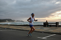 EAST LONDON, SOUTH AFRICA - FEBRUARY 20: Adele Waldron of Western Province runs along the beachfront during the ASA Marathon Championships in East London on February 20, 2015 in South Africa. (Photo by Roger Sedres/Gallo Images)