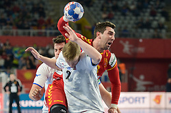 Martin Popovski of Macedonia during handball match between National teams of Macedonia and Czech Republic on Day 6 in Main Round of Men's EHF EURO 2018, on January 23, 2018 in Arena Varazdin, Varazdin, Croatia. Photo by Mario Horvat / Sportida