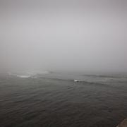 Today's foggy sunrise  at Narragansett Town Beach, Narragansett, RI,  May  8, 2013.