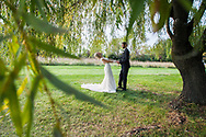 Rachel and Nick's beautiful backyard wedding in Lapeer. The two said their 'I Do's' under a beautiful willow tree, in front of a handmade birch altar.