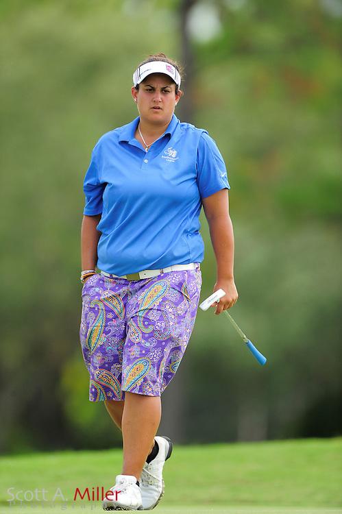 Daniela Iacobelli during the final round of the Daytona Beach Invitational  at LPGA International on Sep 30, 2012 in Daytona Beach, Florida...©2012 Scott A. Miller