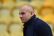 Mansfield Town manager Adam Murray during the Sky Bet League 2 match between Mansfield Town and Northampton Town at the One Call Stadium, Mansfield, England on 28 March 2016. Photo by Jon Hobley.