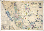 Map of the United States of Mexico,  1847 published by J Disturnall. This was appended to the Treaty of Guadalupe-Hidalgo which ended the Mexican American War (1846-1848), and shows Upper California and New Mexico as Mexican although they had been ceded in the Treaty. It also gives the boundaries and Mexican spellings.