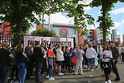 Fans queue before the One Love Manchester Concert at the Emirates Old Trafford Cricket Ground, Manchester, United Kingdom on 4 June 2017. Photo by Phil Duncan.