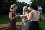 HETTIE BURN; ELIZABETH BASS; MEERA BUTLER, The Tercentenary Ball, Worcester College. Oxford. 27 June 2014