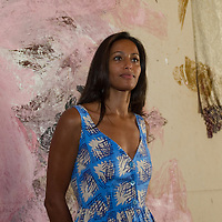 "Rula Jebreal at the press preview of Julian Schnabel - ""Permanently Becoming And The Architecture Of Seeing"" part of 54th International Art Biennale in Venice"