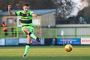 Forest Green Rovers Paul Digby(20) during the EFL Sky Bet League 2 match between Forest Green Rovers and Morecambe at the New Lawn, Forest Green, United Kingdom on 17 November 2018.