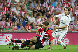 September 15, 2018 - Yeray Alvarez of Athletic Club and Modric of Real Madrid in action during the match played in Anoeta Stadium between Athletic Club and Real Madrid CF in Bilbao, Spain, at Sept. 15th 2018. Photo UGS/AFP7 (Credit Image: © AFP7 via ZUMA Wire)