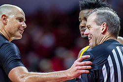 NORMAL, IL - December 07: Jeff Malham and Randy Heimerman during a college basketball game between the ISU Redbirds and the Morehead State Eagles on December 07 2019 at Redbird Arena in Normal, IL. (Photo by Alan Look)
