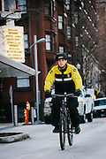 Pacific Patrol Services bicycle patrol officer on bike while on duty in downtown Portland