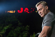 Live production of AMHQ, the Weather Channel's morning television show from the French Quarter in New Orleans; Sam Champion