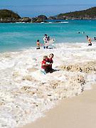 View of Cinnamon Bay, St. Johns, US Virgin Islands