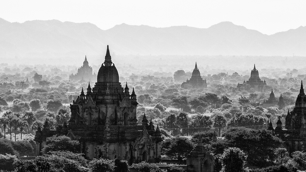 """During its golden age in the 12th century, Bagan was known as """"the city of four million pagodas."""" Even now there are approximately 2000 pagodas worth exploring and photographing."""