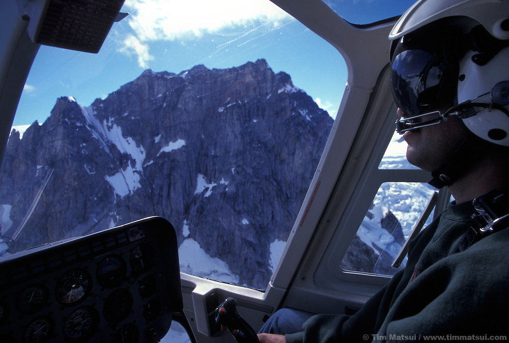 Flying into the British Columbia Coast Range with pilot Mike King of White Saddle Air based in Bluff Lake, BC, Canada.